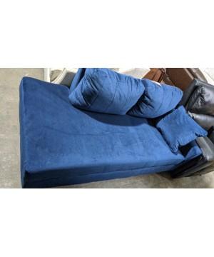 Blue Velvet Chaise - A Stock