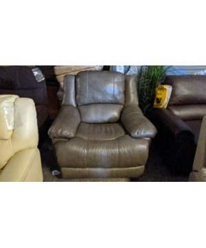 Gray Leather Power Recliner...