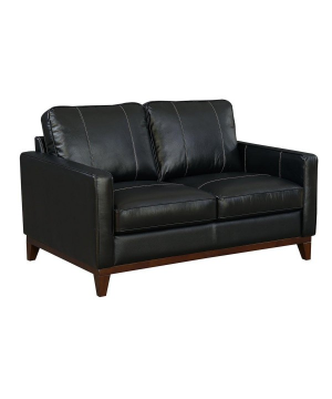 Clancy Leather Love Seat -...