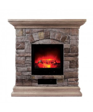 Juna Faux Stone Fireplace...
