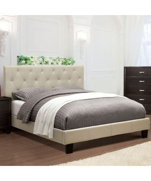 Leeroy Cal.King Bed Ivory