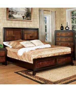 Patra E.King Bed Acacia/Walnut