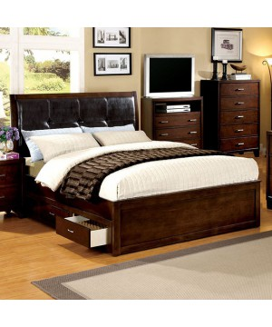 Enrico IV Bed Brown Cherry
