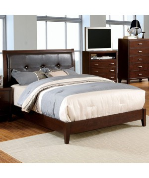 Enrico I Full Bed Brown Cherry