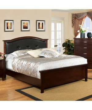 Crest View Bed Brown Cherry