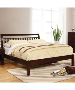 Corry Queen Bed Dark Walnut