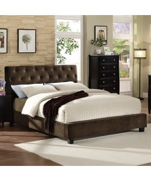 Cordell E.King Bed Dark Brown