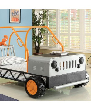 Rover Twin Bed Orange/Silver