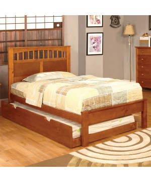 Carus Full Bed Oak