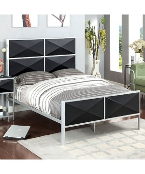 Largo Twin Bed Silver, Black