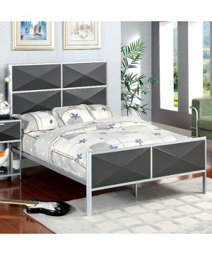 Largo Twin Bed Silver, Gray