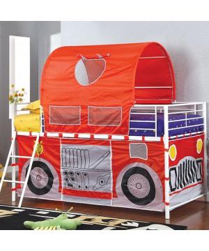 Hucklebee Twin Loft Bed Red