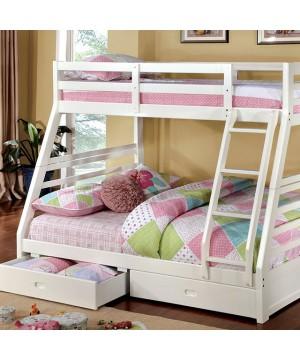 California III Bunk Bed White