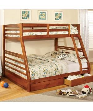 California III Bunk Bed Oak