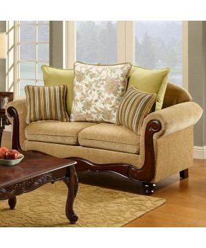 Banstead Love Seat Tan/Dark...