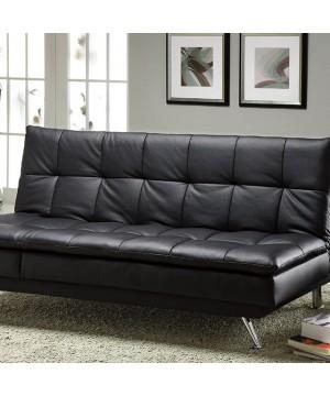 Hasty Futon Sofa Black/Chrome
