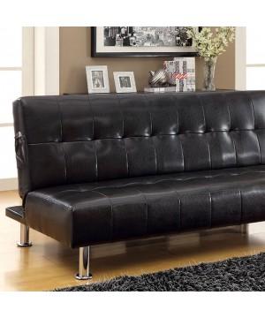 Bulle Futon Sofa Black/Chrome
