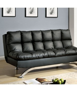 Aristo Futon Sofa Black/Chrome