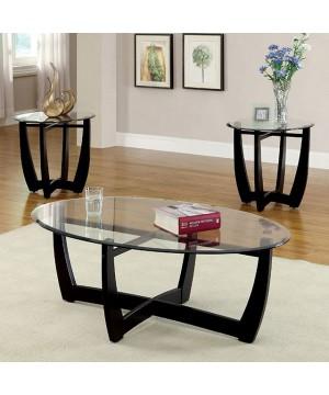 Dafni 3 Pc. Table Set Black