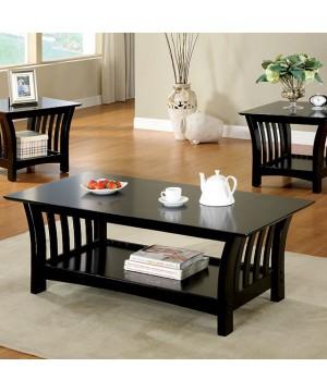 Milford 3 Pc. Table Set Black