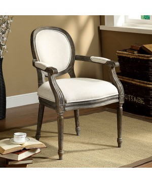 Conway Accent Chair Ivory/Gray
