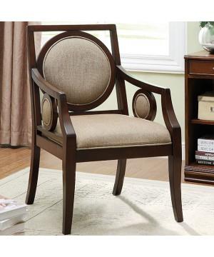Biel Accent Chair Dark Walnut