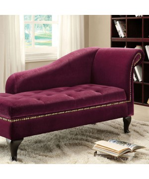 Lakeport Chaise Red Violet