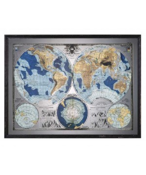 Uttermost Mirrored Map of...