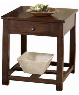 End Table Wood Drawer