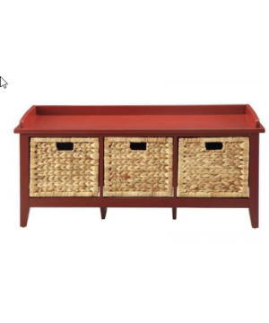 Storage Bench with 3 Rattan...